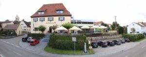 Panorama Außenansicht des Gasthof zum Löwen in Wilflingen